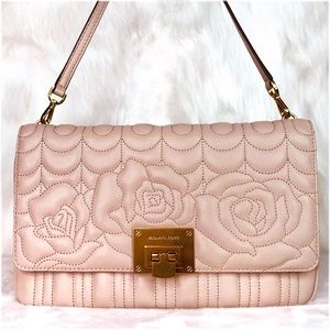 Michael Kors Vivianne Large Quilted Leather Clutch